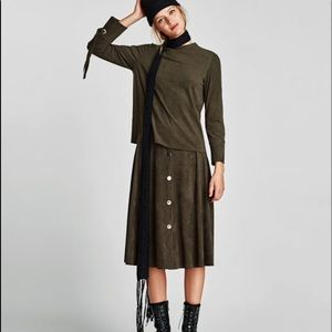 Zara faux suede skirt